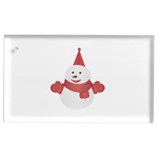 Snowman cartoon place card holder