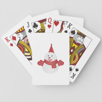 Snowman cartoon playing cards