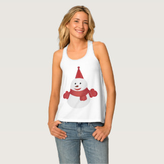 Snowman cartoon singlet
