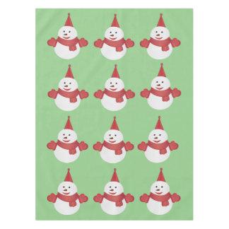 Snowman cartoon tablecloth