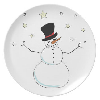Snowman Celebration Plate