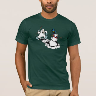 Snowman Chase Dark Shirt