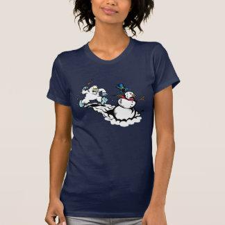 Snowman Chase Women's Navy Shirt