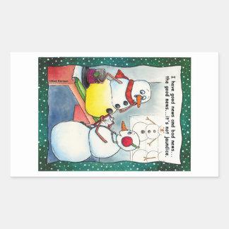 Snowman Checkup Stickers