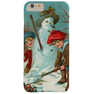 Snowman Children Snow Holly Barely There iPhone 6 Plus Case