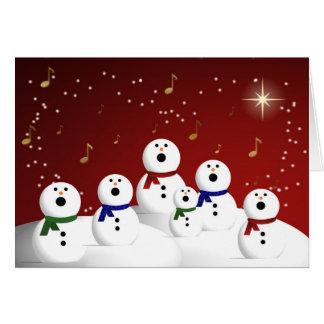 Snowman Choir Card
