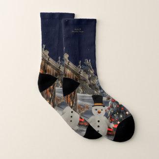 Snowman Christmas All-Over-Print Socks Small 1