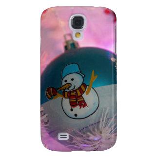 Snowman - christmas balls - merry christmas galaxy s4 case