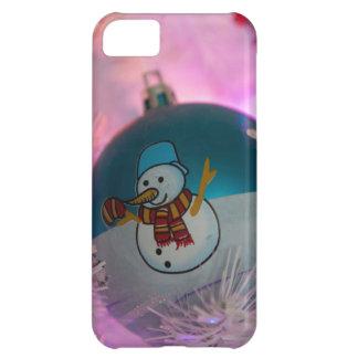 Snowman - christmas balls - merry christmas iPhone 5C case
