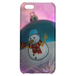 Snowman - christmas balls - merry christmas iPhone 5C cases