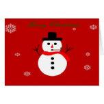 Snowman Christmas Card Greeting Card
