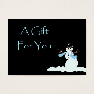 Snowman Christmas Gift Card Certificates
