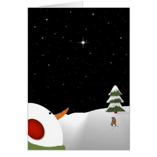 Snowman Christmas In Remembrance Greeting Card