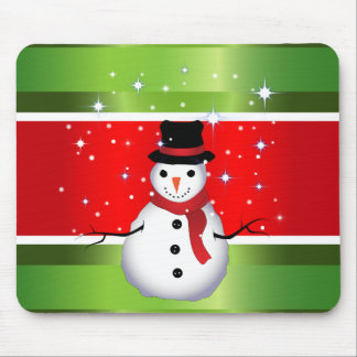 Snowman Christmas Mouse Pad