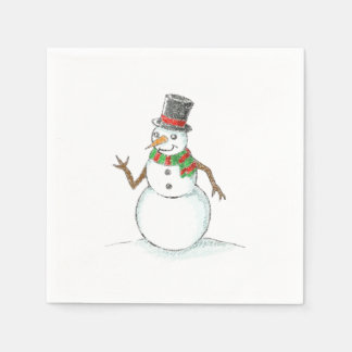 Snowman Christmas Napkin Disposable Napkins