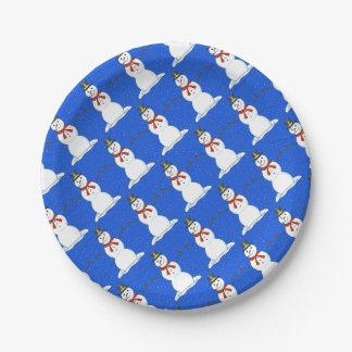 Snowman Christmas Paper Plates