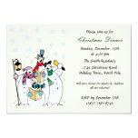Snowman Christmas Party Invitations