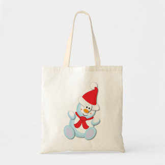 Snowman Christmas Shopping Bag