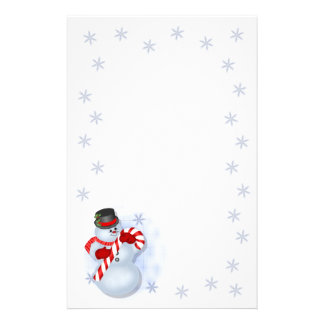 Snowman Christmas Stationery