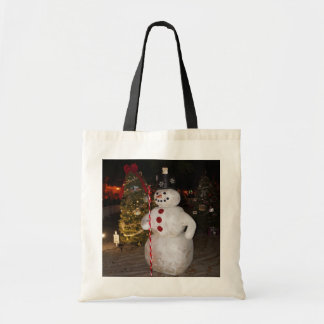 Snowman & Christmas Tree Tote Bag