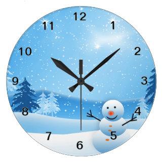 Snowman Clock