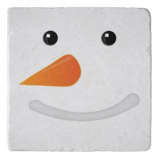 Snowman Close-Up Trivet