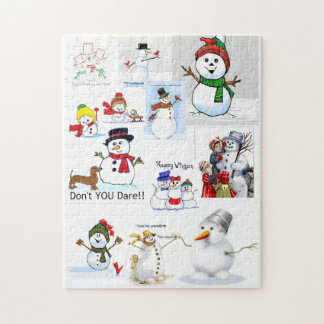 """""""Snowman Cold"""" Outside Jigsaw Puzzle"""