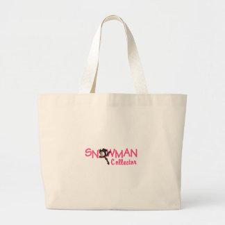Snowman Collector Jumbo Tote Bag