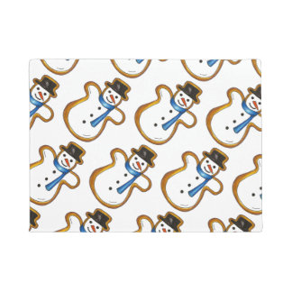 Snowman Cookie Hanukkah Christmas Winter Holiday Doormat
