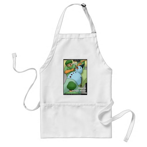 Snowman Cosmetic Surgery Funny Gifts Tees Cards Apron
