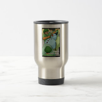 Snowman Cosmetic Surgery Funny Gifts Tees Cards Stainless Steel Travel Mug