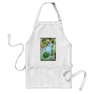 Snowman Cosmetic Surgery Funny Gifts Tees Cards Standard Apron
