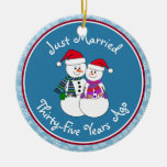 Snowman Couple Anniversary Gifts 35th-Christmas