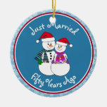 Snowman Couple Anniversary Gifts 50th-Christmas