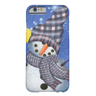 Snowman Crescent Moon and Snowflake Barely There iPhone 6 Case