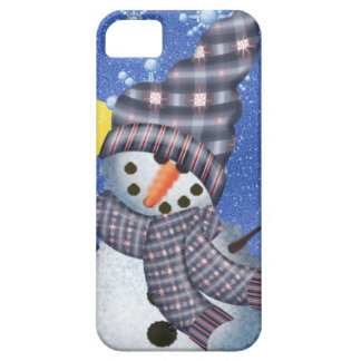 Snowman Crescent Moon and Snowflake iPhone 5 Cases