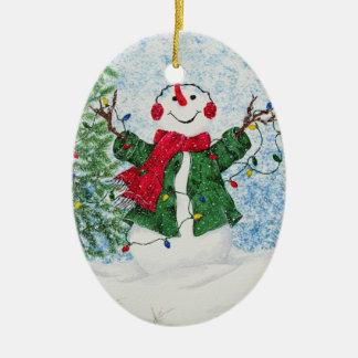 Snowman - Customizable Teacher Gift Ornament