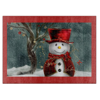 Snowman Cutting Board