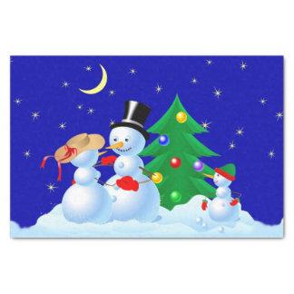 Snowman Dancing Tissue Paper