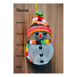 Snowman decoration business card templates