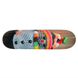 Snowman decoration custom skate board