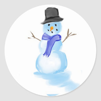 snowman drawing on sticker