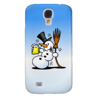 Snowman drinking a beer galaxy s4 covers