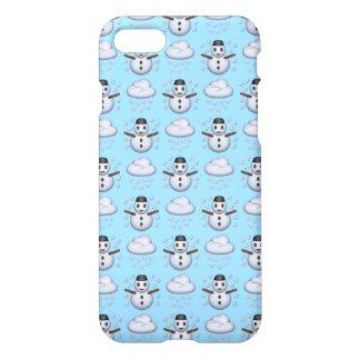 Snowman Emoji iPhone 8/7 Glossy Case