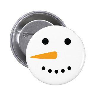 Snowman Face 6 Cm Round Badge