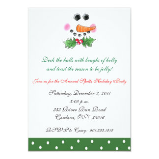 Snowman Face Holiday Invitation