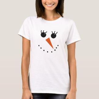 Snowman Face Tee Shirt