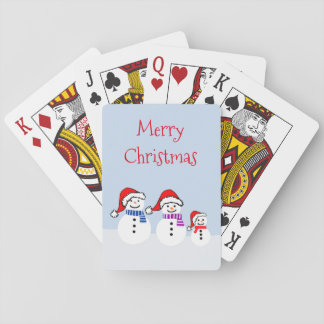 Snowman Family Christmas Playing Cards