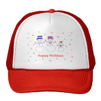 Snowman Family Happy Holidays Hat