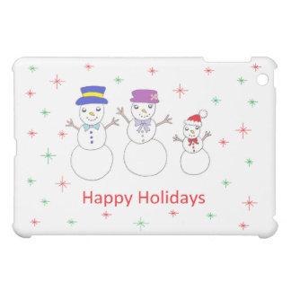 Snowman Family Happy Holidays Case For The iPad Mini
